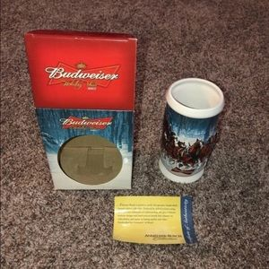 BUDWEISER Holiday Beer Stein Collectible
